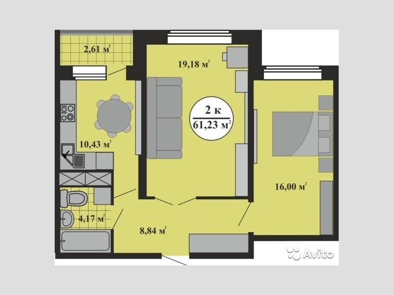 Продам 2-комн. квартиру по адресу Россия, Тверская область, Г Тверь, Левитана, 58 фото 0 по выгодной цене