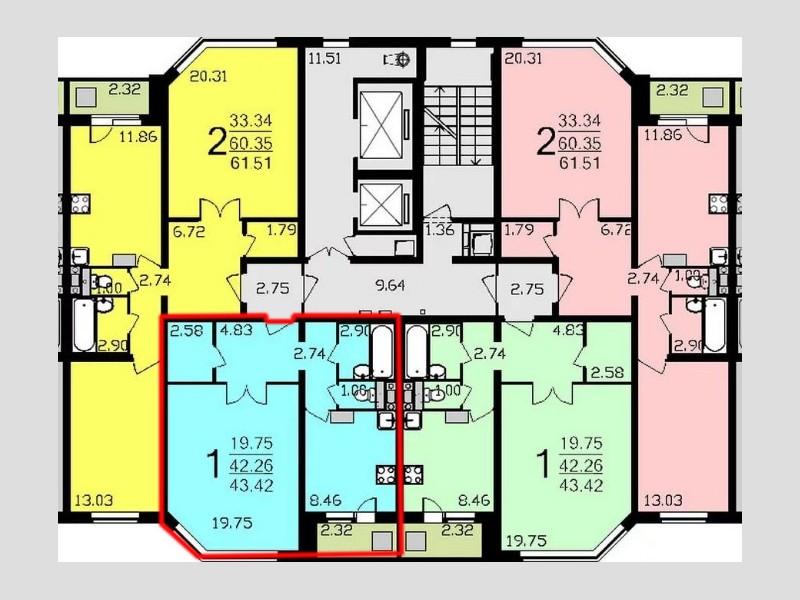 1-к квартира, 43.5 м/кв в москве , купить квартиры на ubu, 7.
