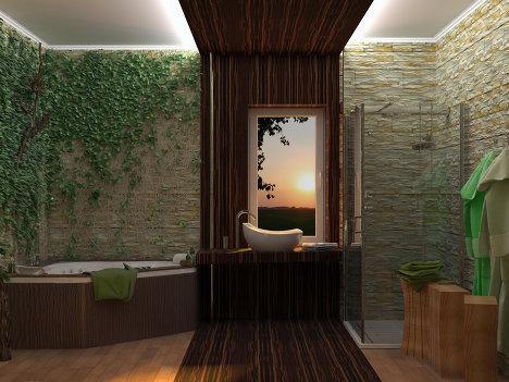 Эко ванна дизайн
